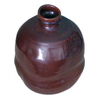 Studio Pottery Signed Stoneware Vase