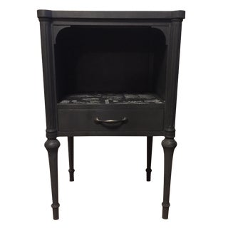 Charcoal Mahogany Side Table