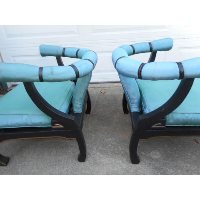 James Mont Style Asian Lounge Chairs - A Pair - Image 3 of 11
