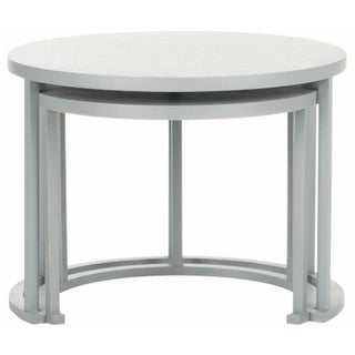 Round Open Nesting Tables in Grey