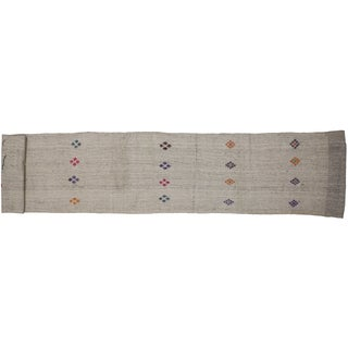 "Vintage Turkish Kilim Runner - 3'3"" X 18'8"""
