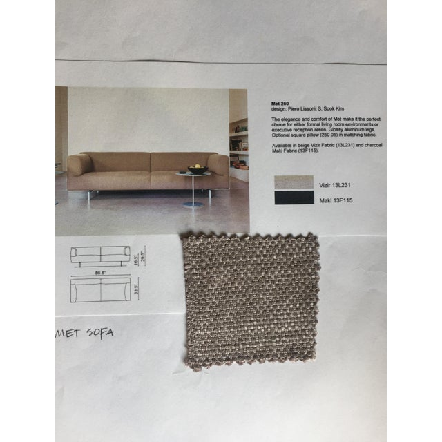Cassina Met 250 Beige Sofa by Piero Lissoni - Image 7 of 10