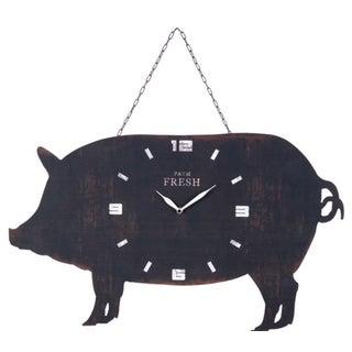 Metal Pig Clock