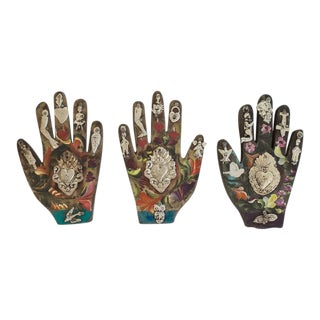 Hand Painted Medium Mexican Folk Art Milagros -Set of 3