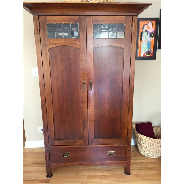Solid wood cherry romwood shaker armoire chairish