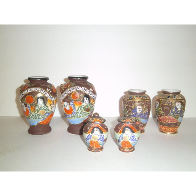 Image of Satsuma Vases & Ginger Jars - Three Pair