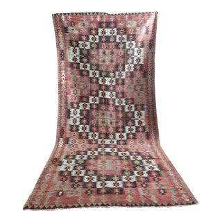 Vintage Turkish Kilim Rug - 5′ × 10′11″