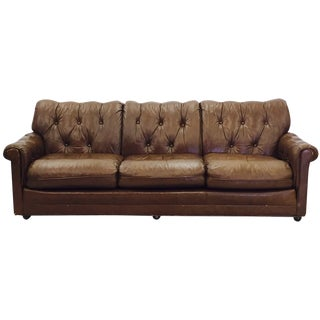 Vintage Leathercraft Tufted Chesterfield Sofa