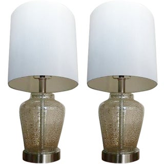 Mirrored Lamps - A Pair