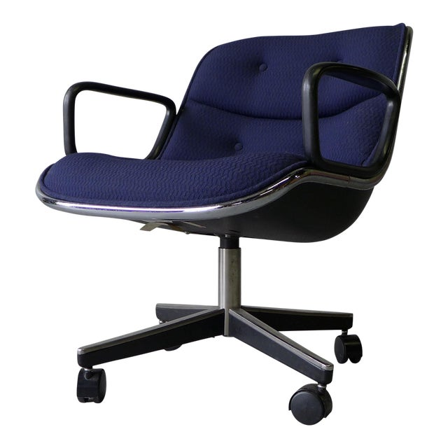 Mid Century Modern Pollock Office Chair by Knoll - Image 1 of 8