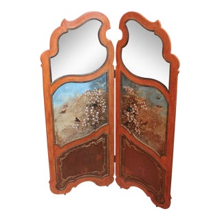 Vintage Painted Folding Screen