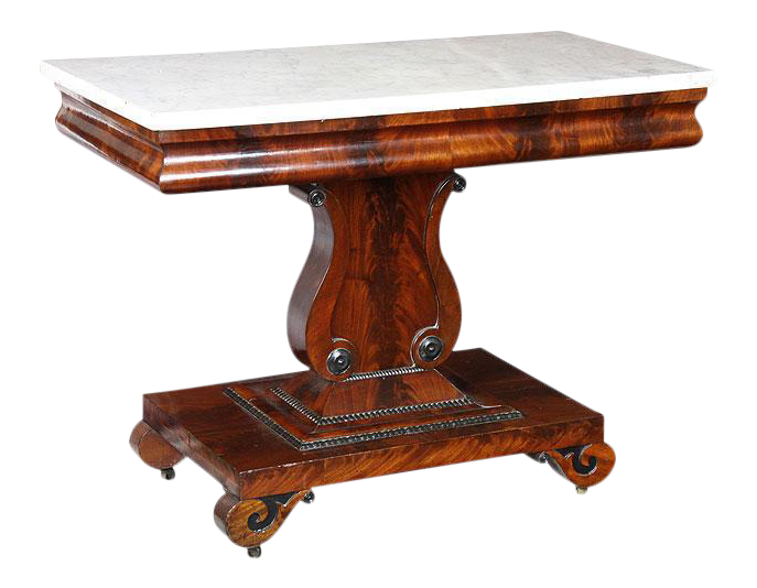 Lovely Mahogany amp Marble Top Lyre Side Table DECASO : b3a94deb 5957 446d a668 bef8bb09f7a8aspectfitampwidth640ampheight640 from www.decaso.com size 640 x 640 jpeg 33kB