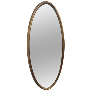 Vintage Oval Gold Toned Mirror