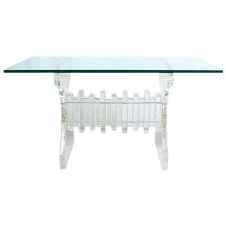Extraordinary Lucite and Glass Console