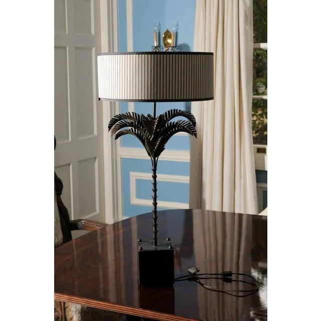 Italian Tole Palm Lamp - Image 4 of 5