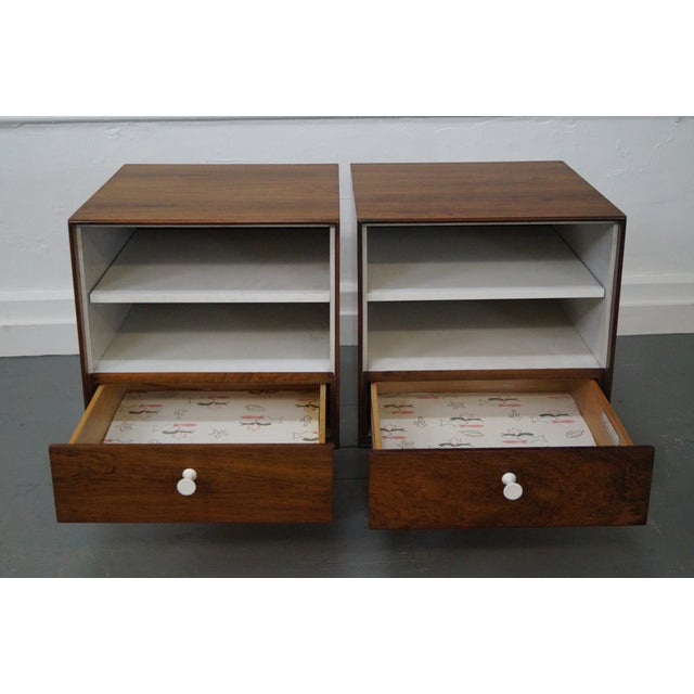 George Nelson Miller Rosewood Nightstands - Pair - Image 5 of 10