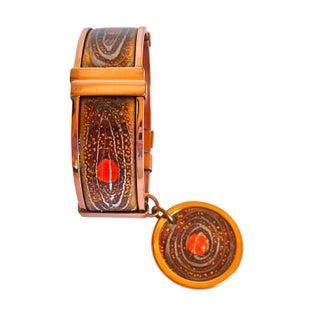 Copper and Enamel Clamper Bracelet