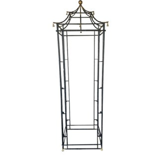 Faux Bamboo Metal Etagere With Bells