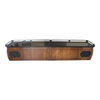 Carved Rosewood Asian Hanging Buffet Sideboard