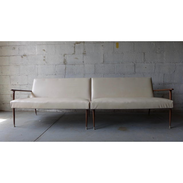 Mid century modern daybeds sofas a pair chairish for Mid century daybed sofa
