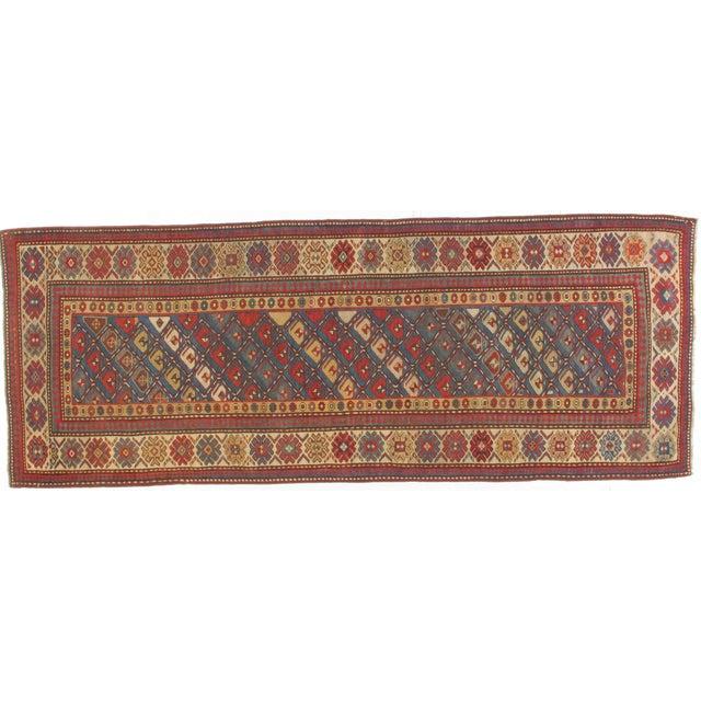 Antique Wool Kazak Runner - 3′9″ × 10′ - Image 1 of 3