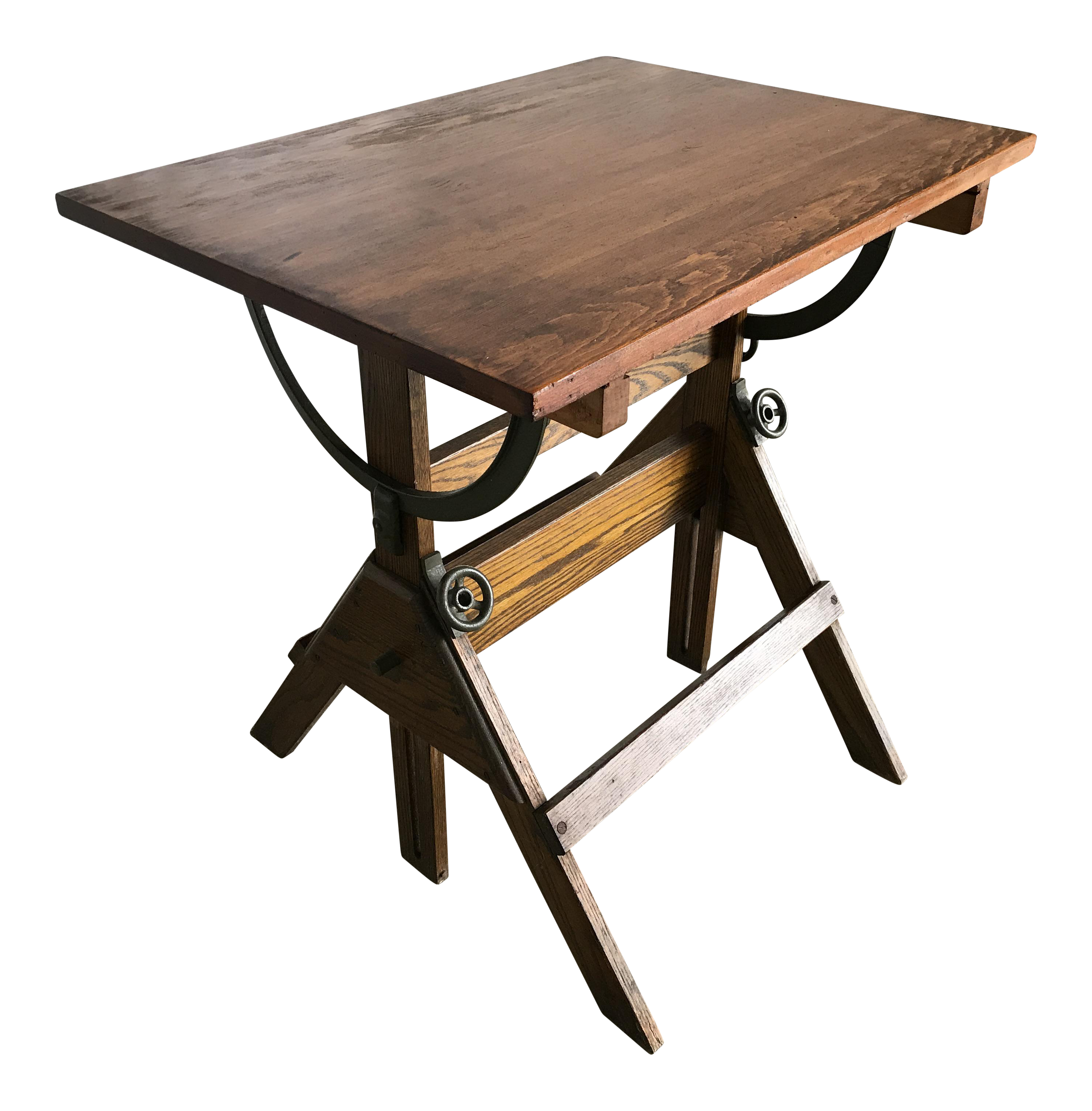 1920s Vintage Industrial Drafting Table/Bar Table/Writing Desk