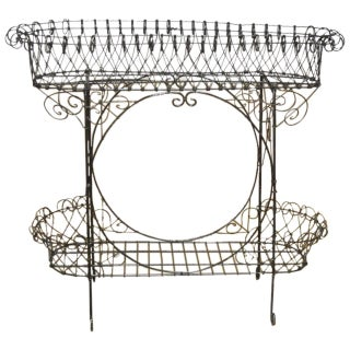 Black French Wire Plant Stand