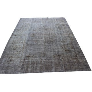 "Gray Overdyed Vintage Turkish Rug - 6'10"" X 9'"