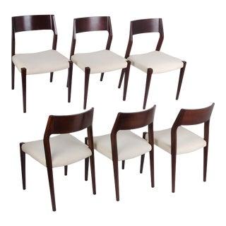 Danish Modern Moller Style Chairs - set of 6