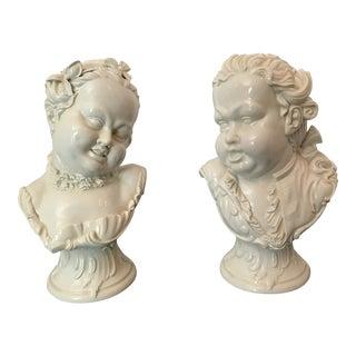 Germain Porcelain Busts - A Pair