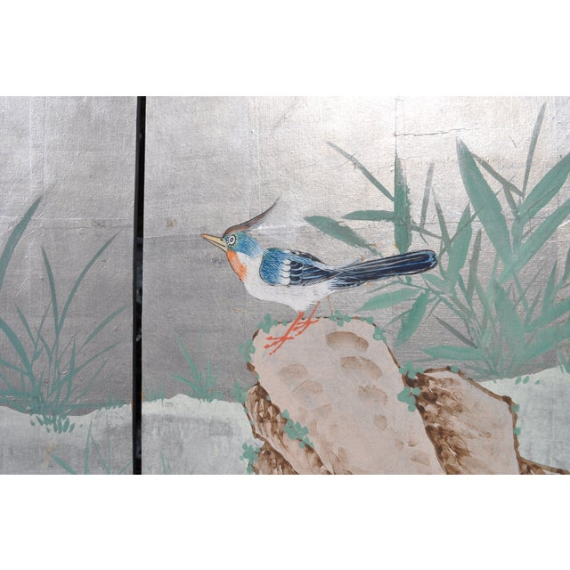 Vintage Chinoiserie Hand Painted Folding Screen - Image 5 of 7