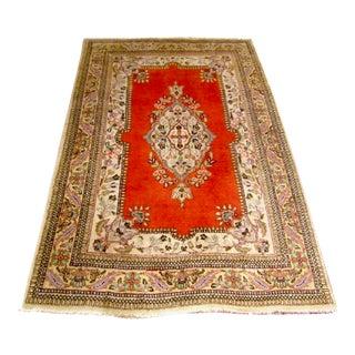 Vintage Persian Tabriz Rug - 3′9″ × 5′6″