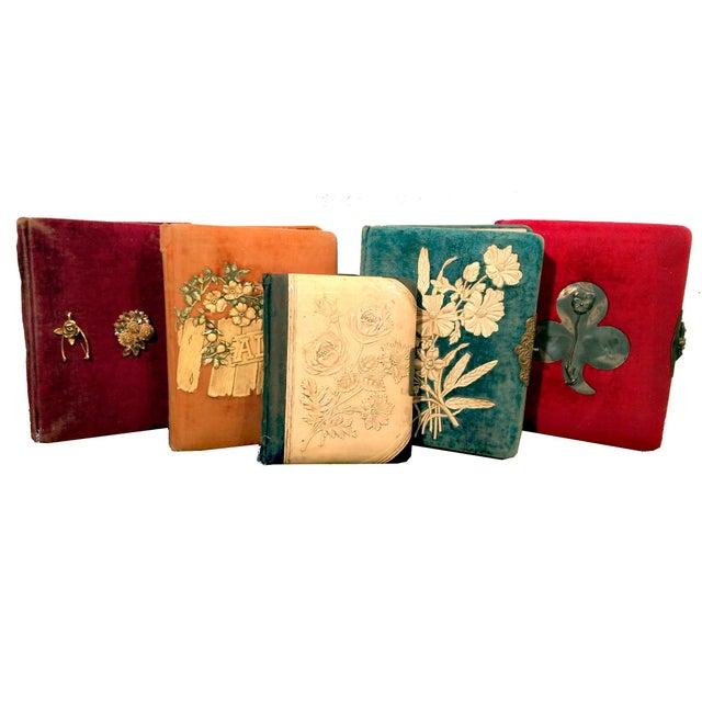 Antique Nouveau Photo Albums - Set of 5 - Image 1 of 10
