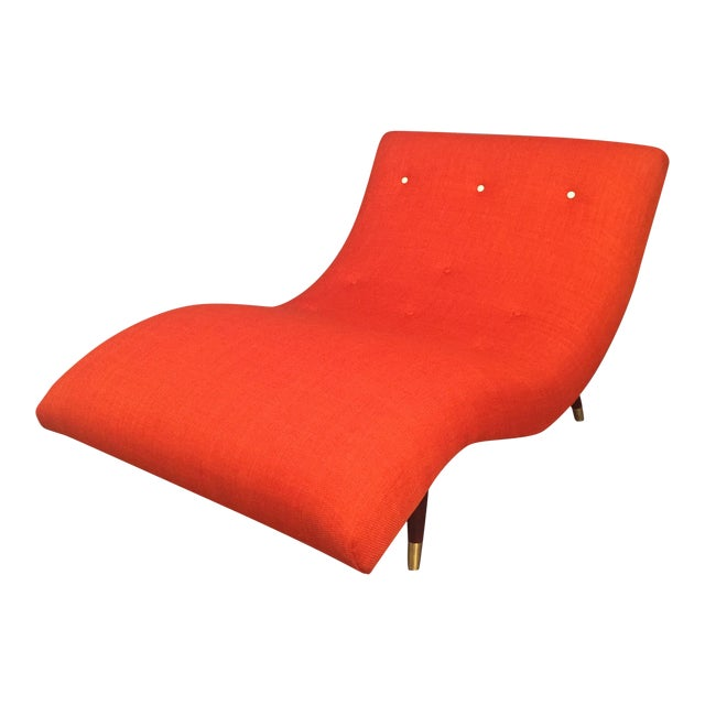 adrian pearsall style orange wave lounge chaise chairish. Black Bedroom Furniture Sets. Home Design Ideas