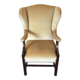 Comfort Home Tan Wingback With Nailhead Chair