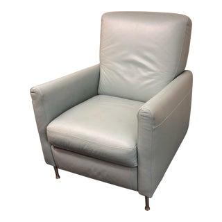 Aqua Leather Recliner Chair