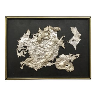 Spill Cast Aluminum Wall Sculpture After Bertoia