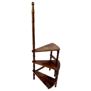 Vintage Faux Bamboo Ladder Plant Stand