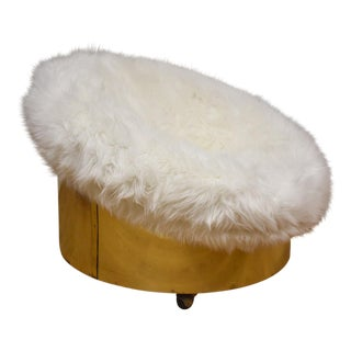 Adrian Pearsall Brass Pouf Lounge Chair