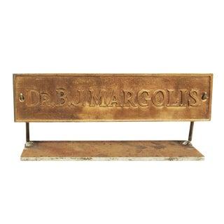 Sign - Vintage Brass Doctors Sign