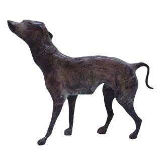 Bronze Whippet Statue