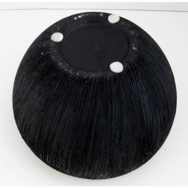 Black Matte Ceramic Bowl - Image 5 of 5