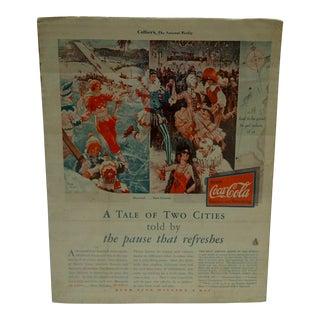 Vintage Coca-Cola Advertising Magazine Page