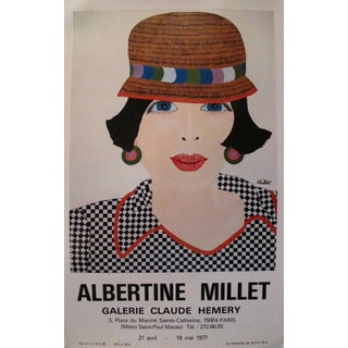 1977 French Exhibition Poster, Albertine Millet