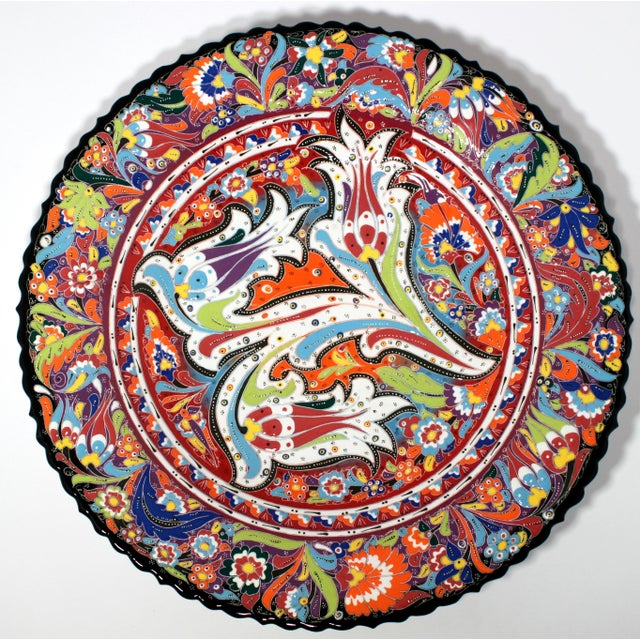 Multicolor Hand Made Turkish Plate - Image 2 of 7