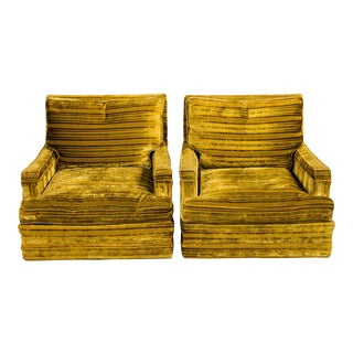 Vintage Swivel Club Chairs - A Pair