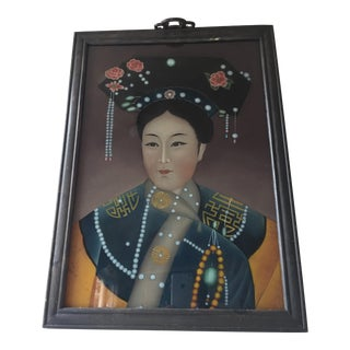Antique Chinese Painting of a Young Woman