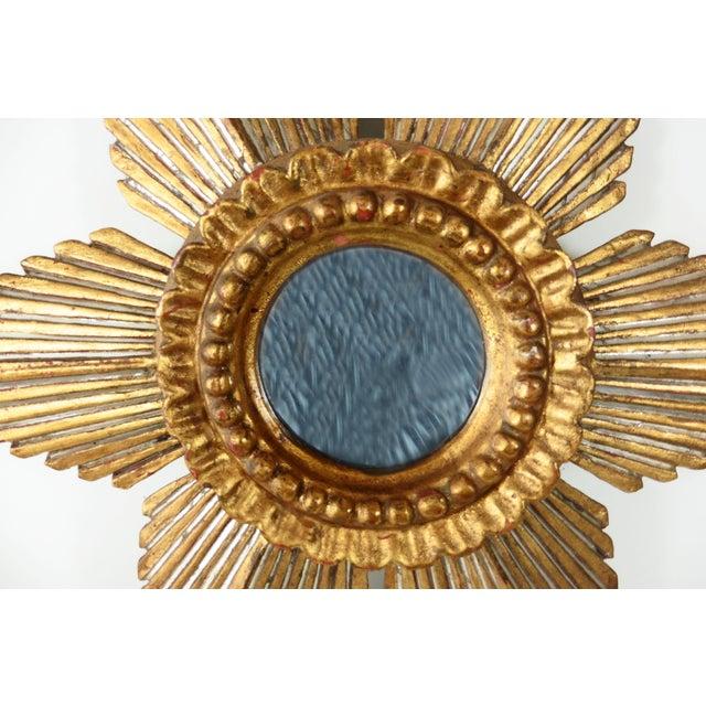 Sunburst Star Gilded & Silver Wood Mirror - Image 4 of 6