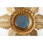Image of Sunburst Star Gilded & Silver Wood Mirror