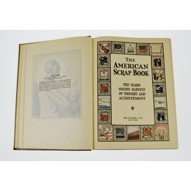 Vintage 1928 The American Scrapbook The Years Golden Harvest of Thought and Achievement 2nd Printing Hardcover Illustrated Book - Image 2 of 6